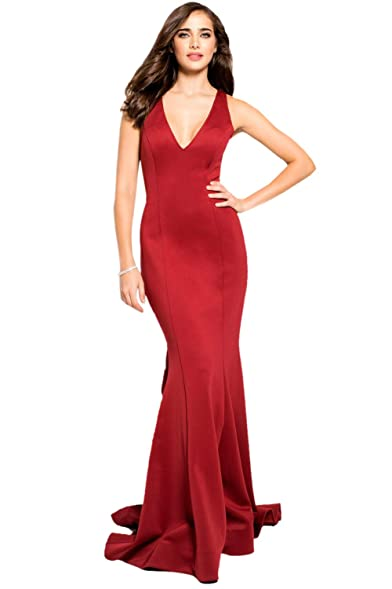 Jovani Prom 2018 Dress Evening Gown Authentic 59769 Long Burgundy
