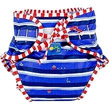 Kushies Baby Unisex Swim Diaper - Large,Ahoy Print,Large,