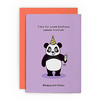 Panda - Tarjeta de felicitación de cumpleaños para Panda ...