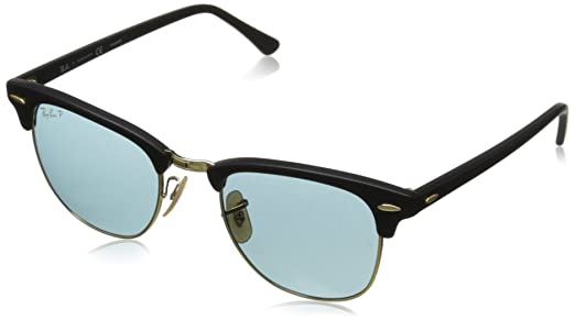 ray ban clubmaster polarised tpr0  Ray-Ban 3016 901SP2 Matte Black 3016 Clubmaster Wayfarer Sunglasses  Polarised L