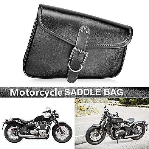 Motorcycle Saddle bags Side Bag Rear Storage Tool Pouch Waterproof Pvc Synthetic Leather for Honda Yamaha Kawasaki Suzuki Ducati KTM ()