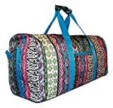 """Made from durable polyester Handle drop: 8"""". Size of Bag: 21"""" x 11"""" x 10"""". Detachable and adjustable handle included. Silver tone hardware. Double handles. Convenient front zipper pocket. Roomy fully lined interior and zipper pocket for your ..."""