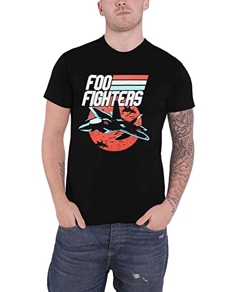 6029b269a5d3 Image Unavailable. Image not available for. Color: Foo Fighters T Shirt A  Matter of Time Band Logo Official Mens Grey