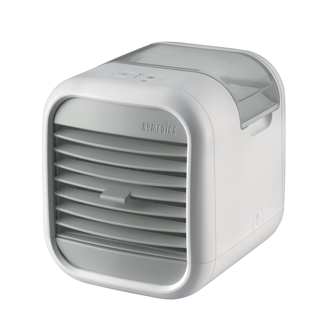 HoMedics MyChill 2 Personal Space Cooler, Chill Room by up to 7 Degrees, 1.2m Cooling Area, 2 Fan Speeds, Adjustable Louvre, Clean Water Tank Technology, Perfect for Office, Lounge, Bedroom - White FKA Brands Ltd PAC-25-EU2