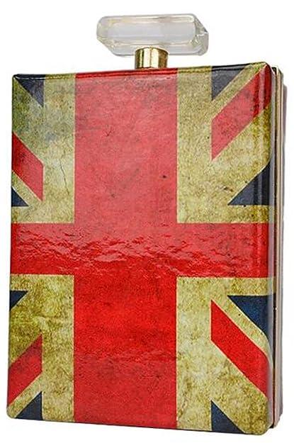 Visnow frasco de Perfume duro caso embrague, (Bandera del Reino Unido), Medium: Amazon.es: Zapatos y complementos