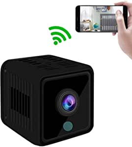GXSLKWL WiFi Mini Spy Camera HD 1080P Wireless for Home Security Surveillance Baby with Night Vision and Loop Recording (Color : +8G Memory Card)