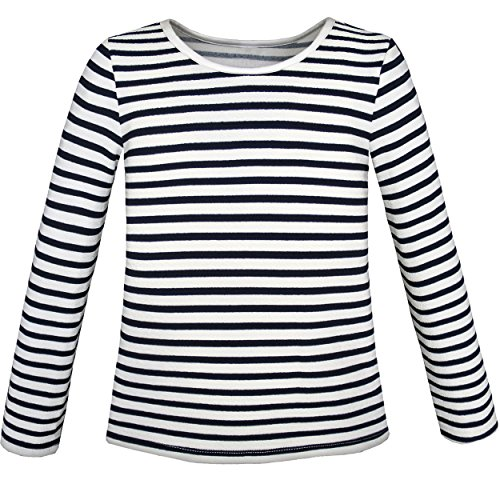 Sunny Fashion KL82 Girls T-Shirt Striped School Size 6