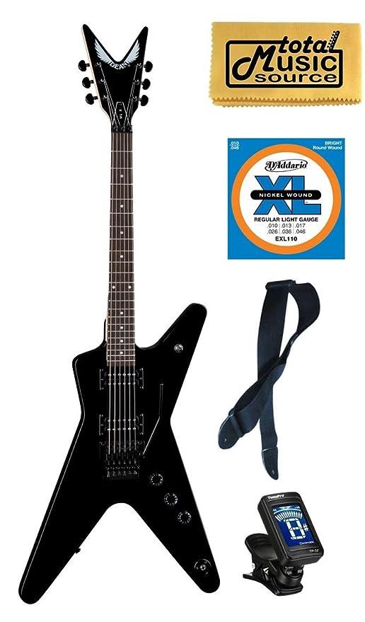 Dean Guitars MLX Floyd Floyd Rose Guitarra eléctrica Classic negro libre cuerdas sintonizador correa