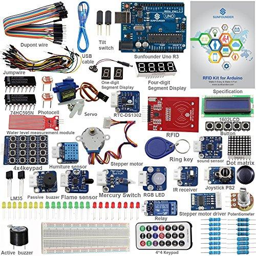 SunFounder-RFID-Starter-Kit-for-Arduino-Uno-R3-Mega-Nano-Circuit-Board-Jumper-Wires-Sensors-Breadboard-Electronics-V20