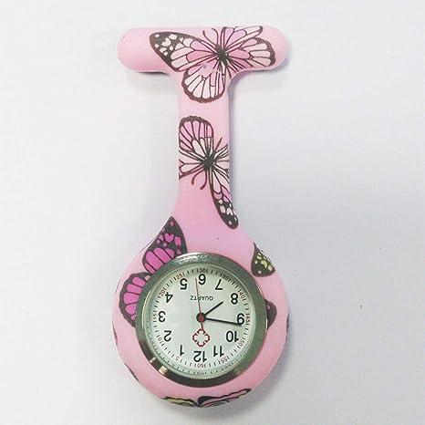 Patrón de impresión en Color Enfermera Reloj Enfermera Unisex Colgando Reloj Enfermeras Gel de sílice Reloj