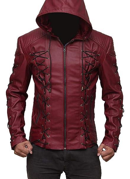 Amazon.com: Arrow - Chaqueta con capucha para disfraz de ...