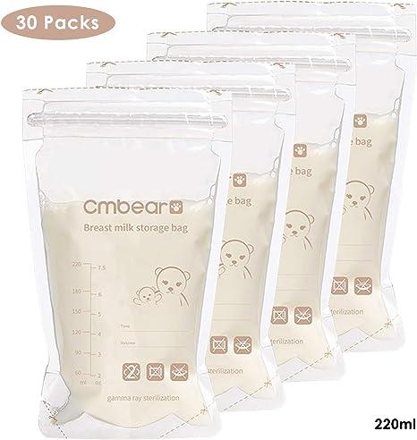 30 bolsas de almacenamiento de leche materna para la lactancia ...