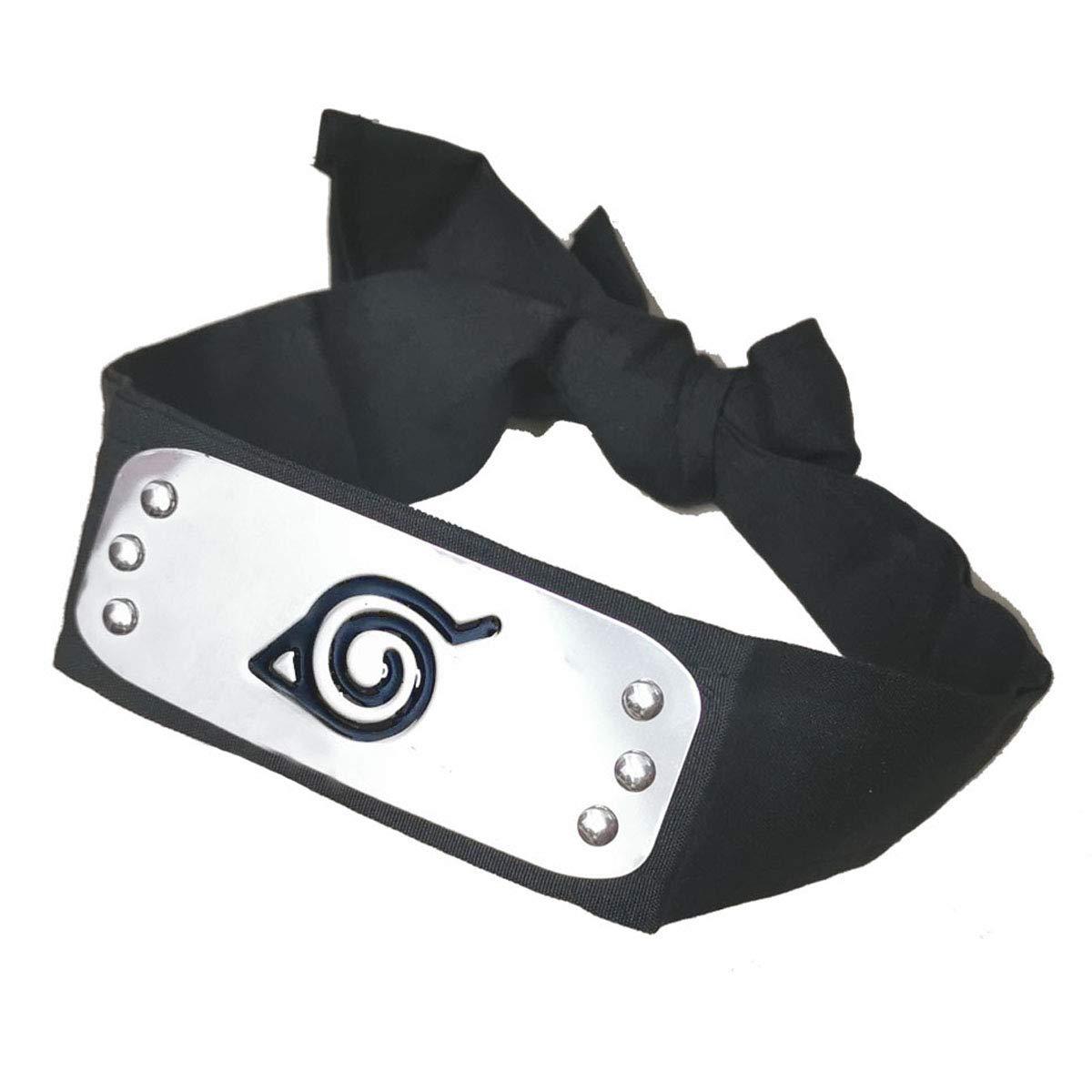 IDOXE Leaf Village Logo Metal Plated Headband, Naruto Costume Leaf Village Ninja Headband Kakashi Cosplay (Leaf Village)'