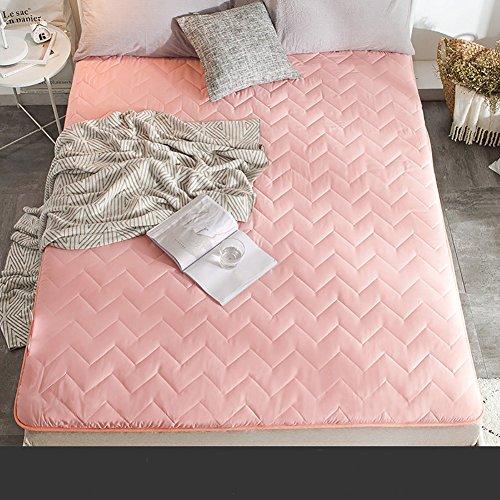 HYXL Flannel Plush Thick Tatami floor mattress,Soft mattress topper Overfilled mattress pad Chemical-free anti-mite fabric-E 120x200cm(47x79inch) by HYXL