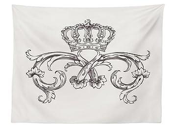 vipsung Mittelalter Decor Tischdecke ROYAL Krone Vintage Kurven King ...