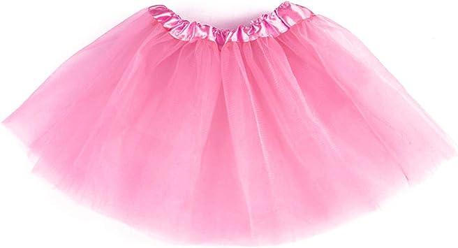 takestop Falda Tutu Tutu Rosa 30 cm Tul Baile Princesa 3 Capas ...