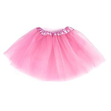 0ec1731dd takestop Falda Tutu 'Tutu Rosa 30 cm Tul Baile Princesa 3 Capas Picardías  Disfraz Danza