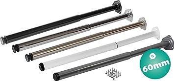/Ø 50 mm Weiss ohne Befestigungsschrauben Einzel- Teleskop-Tischbein IB-Style H/öhenverstellbar 80-120 cm 6 Variationen Form: Rund