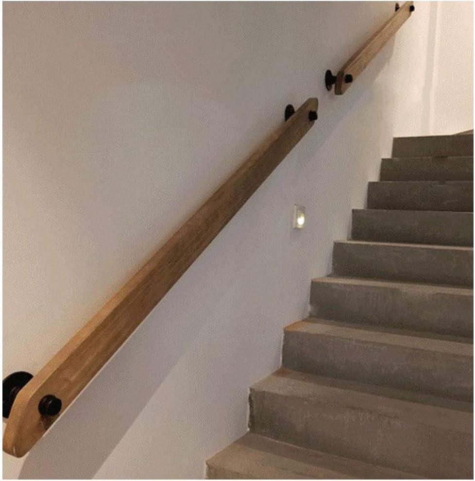 MLMH Barandilla de la escalera de pared de madera maciza pasamanos del baño barandilla de madera escaleras 2 soporte de hierro forjado 30/50/80/100 / 120cm Barandilla (Size : 120cm): Amazon.es: Hogar