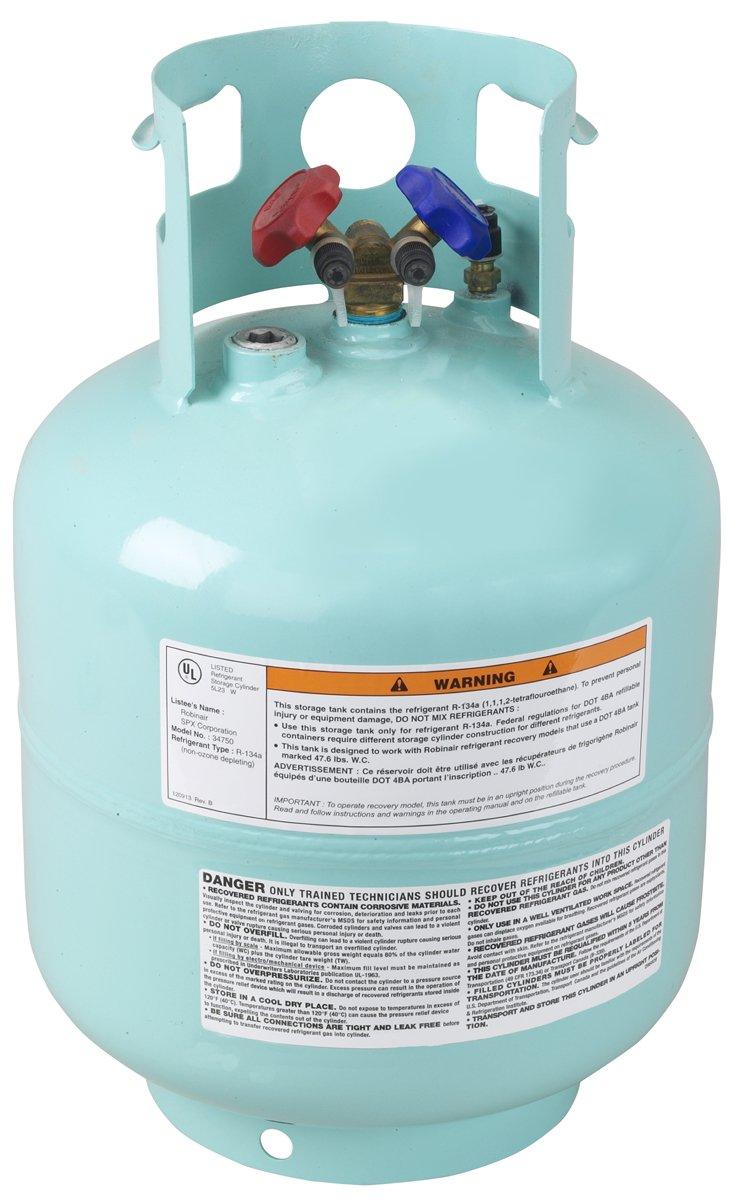 Robinair (34750) Refrigerant Tank for R-134A - 50 lbs.