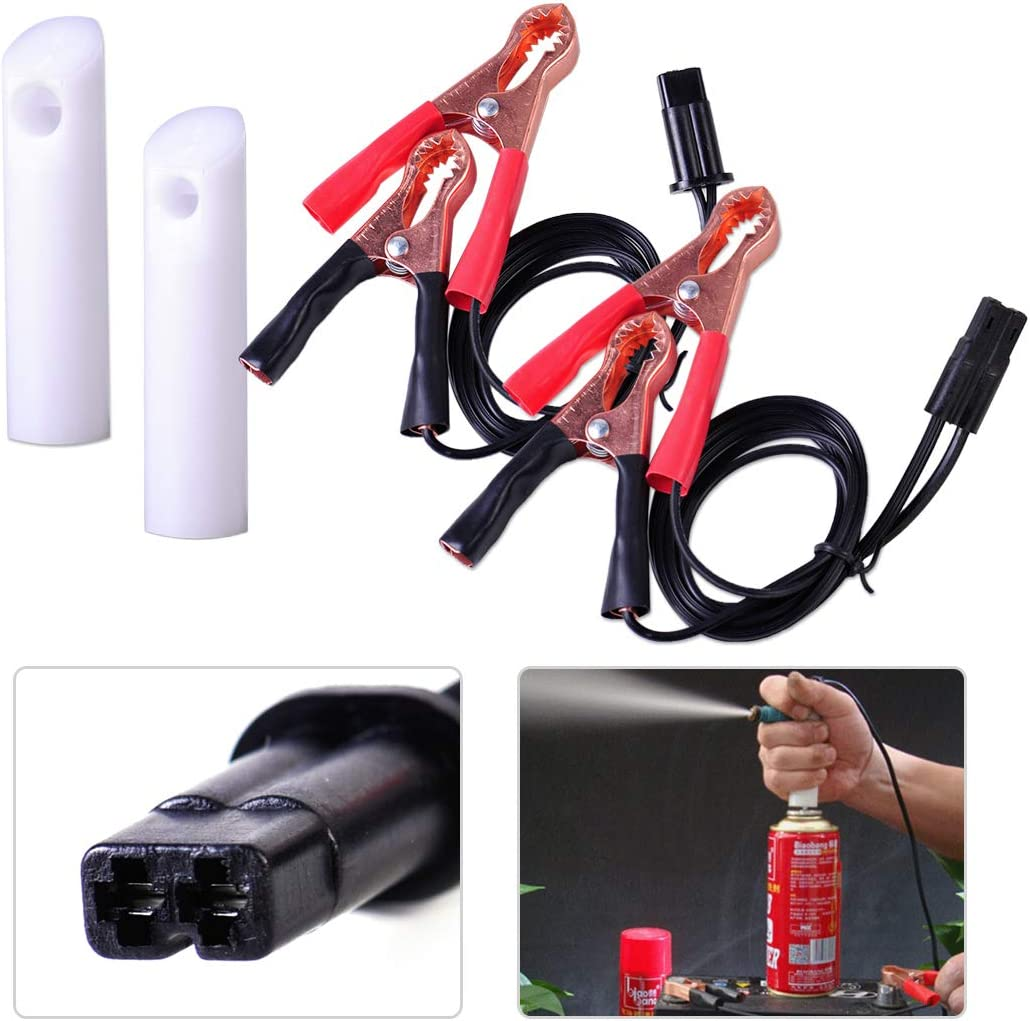 XtremeAmazing Universal Auto Car Truck Fuel Injector Nozzle Gasoline Cleaning Tester Flush Cleaner Adapter DIY Washing Cleaning Repair Tool Kit