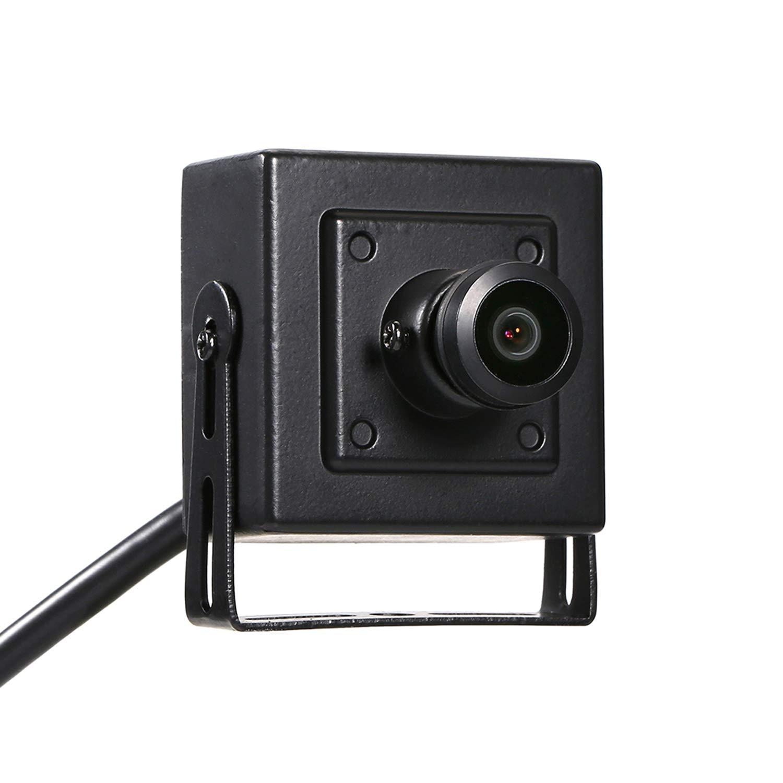 Revotech/® HD Fisheye Mini Telecamera IP Sorveglianza I706-4 Nero H.265 3MP 2MP 1080P 1,44 mm Panoramico Lente Interno Telecamera di Sicurezza Rilevazione di movimento ONVIF P2P CCTV Cam Sistema