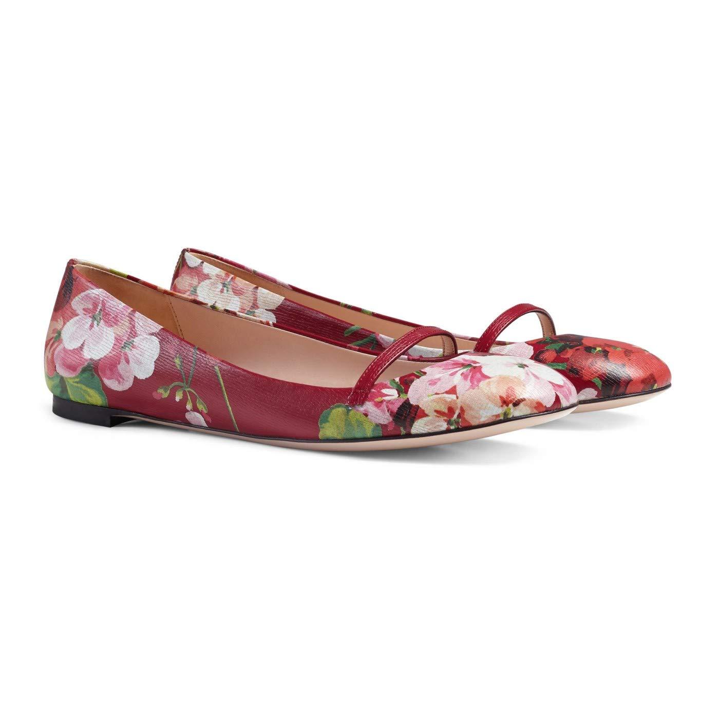 codice promozionale 58e50 8b05e Amazon.com: Gucci Women's Leather Blooms Floral Print ...