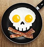 Friendly Kitchens Reuseable Silicone Pancake and Baking Molds & Egg Rings: Skull, Owl, Pumpkin, and Bunny 4-Pack
