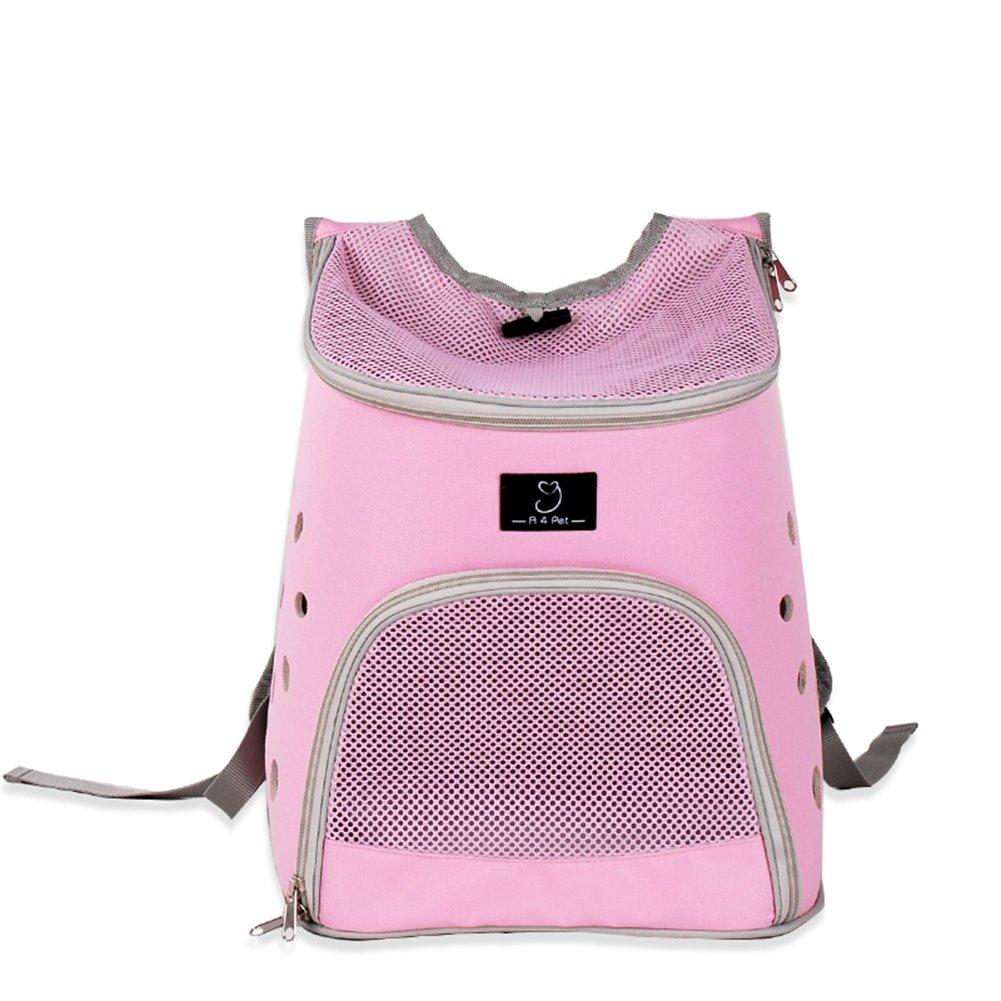 Dog Bag Shoulder Dog Backpack Cat Cage Cat Bag Pet Outing Package Outgoing Portable Dog Bag Outdoor Pet Supplies (color   PINK)