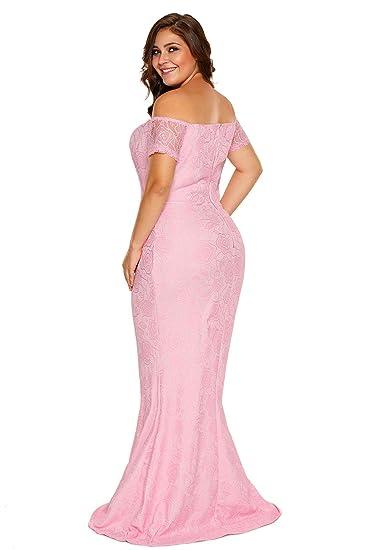 ILFtrend Women Plus Size Party Dresses Formal Lace Peplum Evening Dress (XL-XXXL): Amazon.co.uk: Clothing
