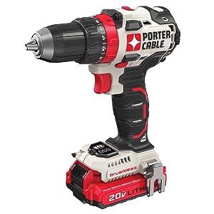 """PORTER-CABLE PCCK607LB 20V MAX Brushless Cordless Drill Driver, 1/2"""""""
