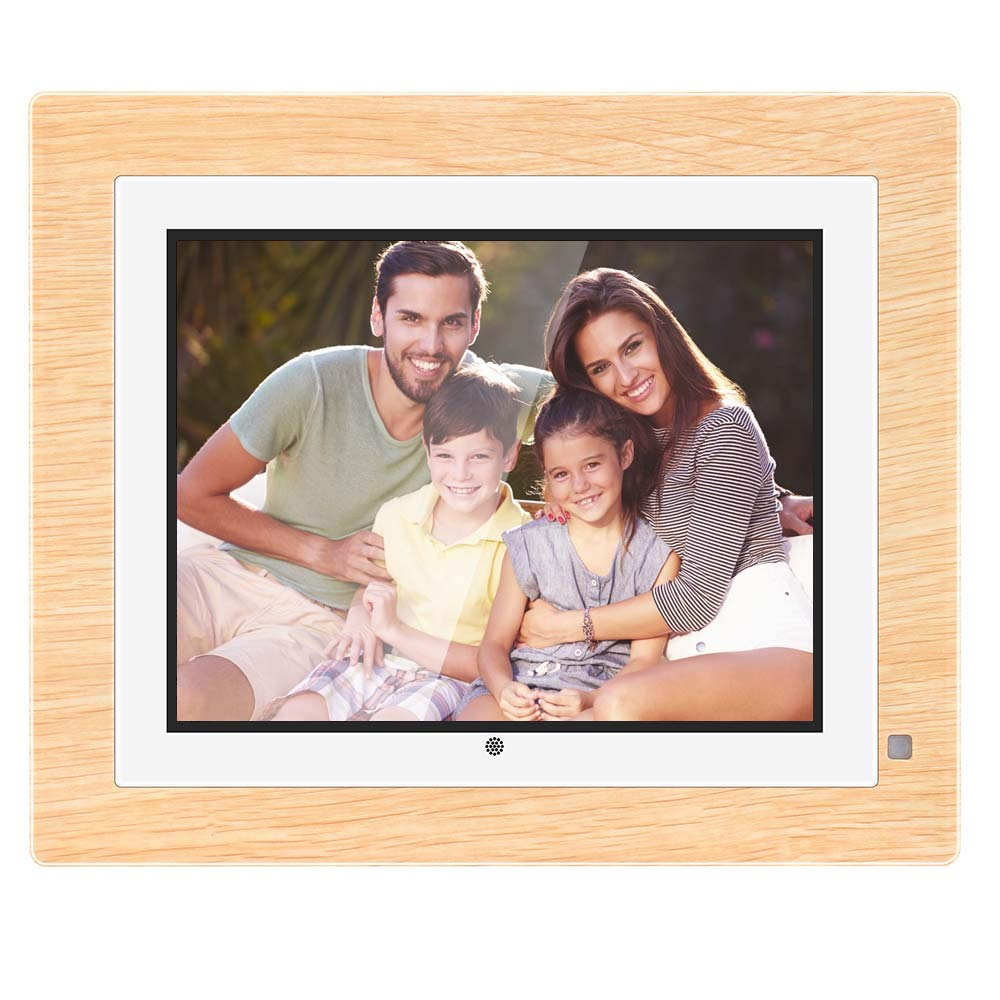 BSMIB Digital Photo Frame Digital Picture Frame 9 inch IPS Display 1067x800(4:3) Hi-Res Electronic Picture Frame HD Video and Motion Sensor USB/SD Card Playback Infrared Remote Control(Yellow)