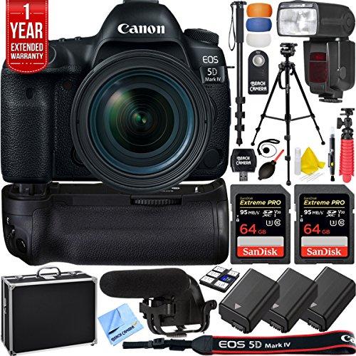 Canon 5D Mark IV EOS 30.4MP Full Frame DSLR Camera w/EF 16-3