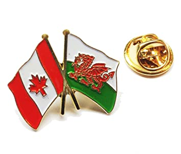 Wales / Canada Friendship Pin Badge