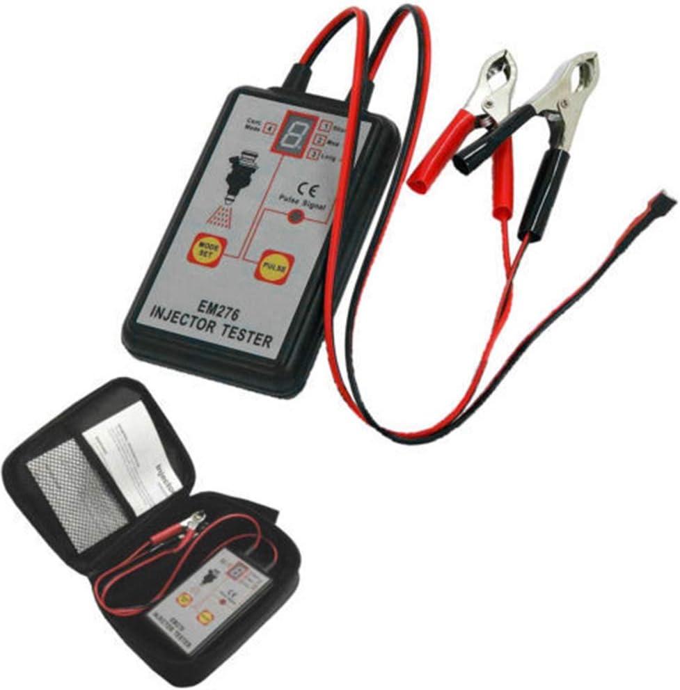 Diagnose-Tester Professional EM276 Einspritzd/üsentester 4 leistungsstarkes Kraftstoffsystem Pluse-Modi Universal-LED-Anzeige Auto Auto Einspritzd/üsentester