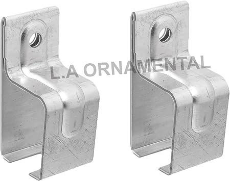 Soporte de pared para puerta corredera de granero de acero galvanizado: Amazon.es: Bricolaje y herramientas