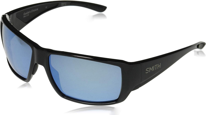 Smith Guides Choice Mens Black Sunglass ChromaPop+™ Polar Blue Mirror MAKE OFFER