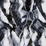 Luxurious Faux Fur Hot Water Bottle Cover, Premium Quality Handcrafted in USA (Forrest Fox Black Grey)