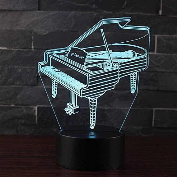 Naughty greenery Luz nocturna 3D Instrumento musical del tema ...