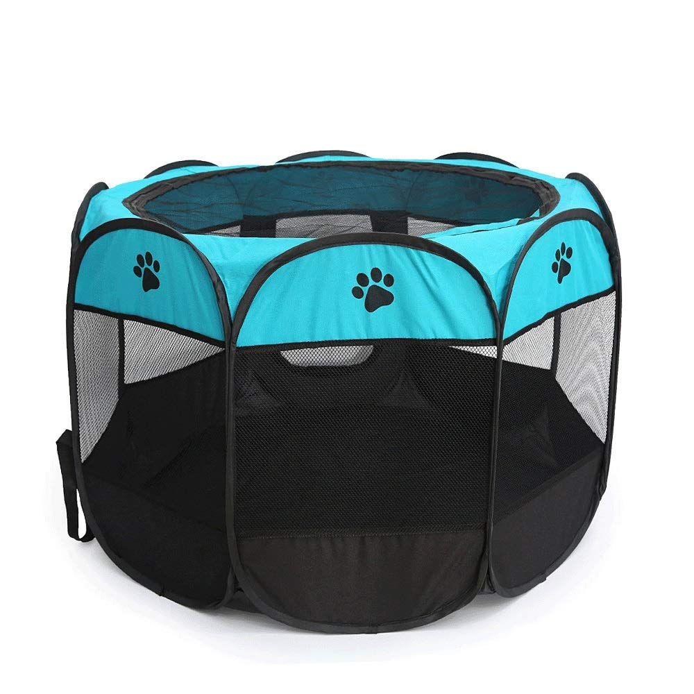 Blue Octagnal Pet Ten Pet Cat Delivery Room Gravidance Cat Production Housing Box Folding Outdoor Tent Cat Production Supplies (Colore: Blue)