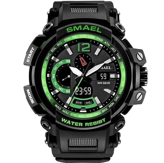 Relojes Relojes Deportivos Moda Relojes electrónicos multifuncionales para niños Relojes Impermeables y a Prueba de choques para Hombres, Tres: Amazon.es: ...