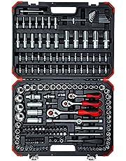 GEDORE czerwony zestaw kluczy nasadowych, 172-częściowy, z grzechotką, grzechotką, kluczem nasadowym i zestawem bitów