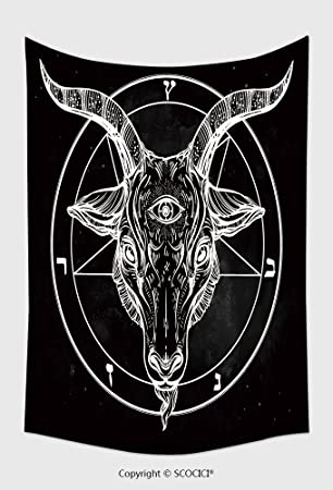 Amazon Home Decor Tapestry Wall Hanging Pentagram With Demon