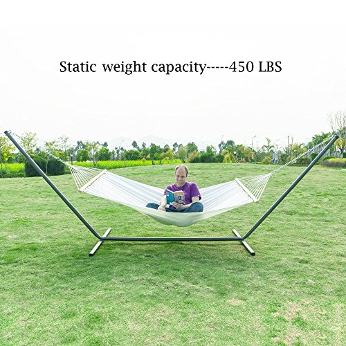 OnCloud Hammock Stand Heavy Duty Indoor Outdoor Steel Black (15 ft)