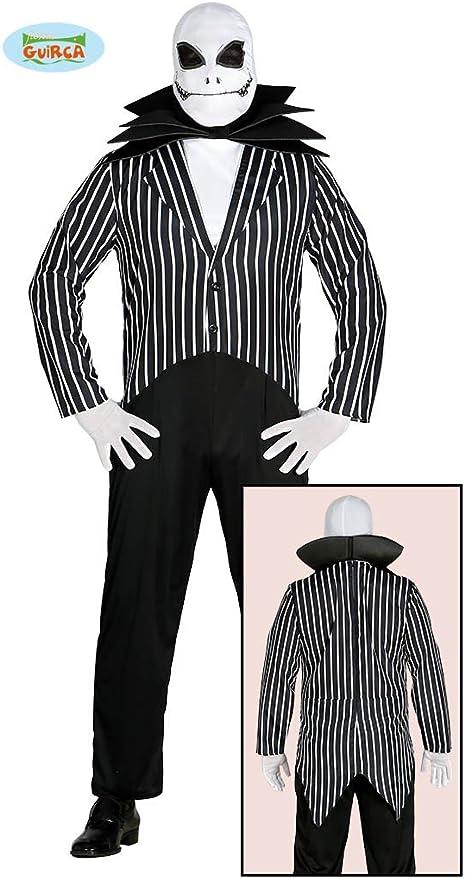 Guirca - Disfraz de Jack Skeletron, Color Blanco y Negro, Talla ...