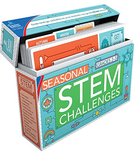 Carson Dellosa - Seasonal STEM Challenges Learning Cards for Grades 2-5, 30 Activity Cards, Ages 7-11 with Resource Guide from Carson-Dellosa