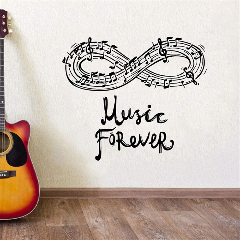 Amazon Com Ionay Motivational Wall Sticker Quotes Music Music Notes Home Interior Misic Design Music Lover Decorative Home Kitchen