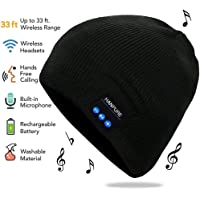 HANPURE Bluetooth Beanie, Wireless Headphones Bluetooth Cap, Music Listening Phone Call Answering for Running, Camping, Hiking, Cycling