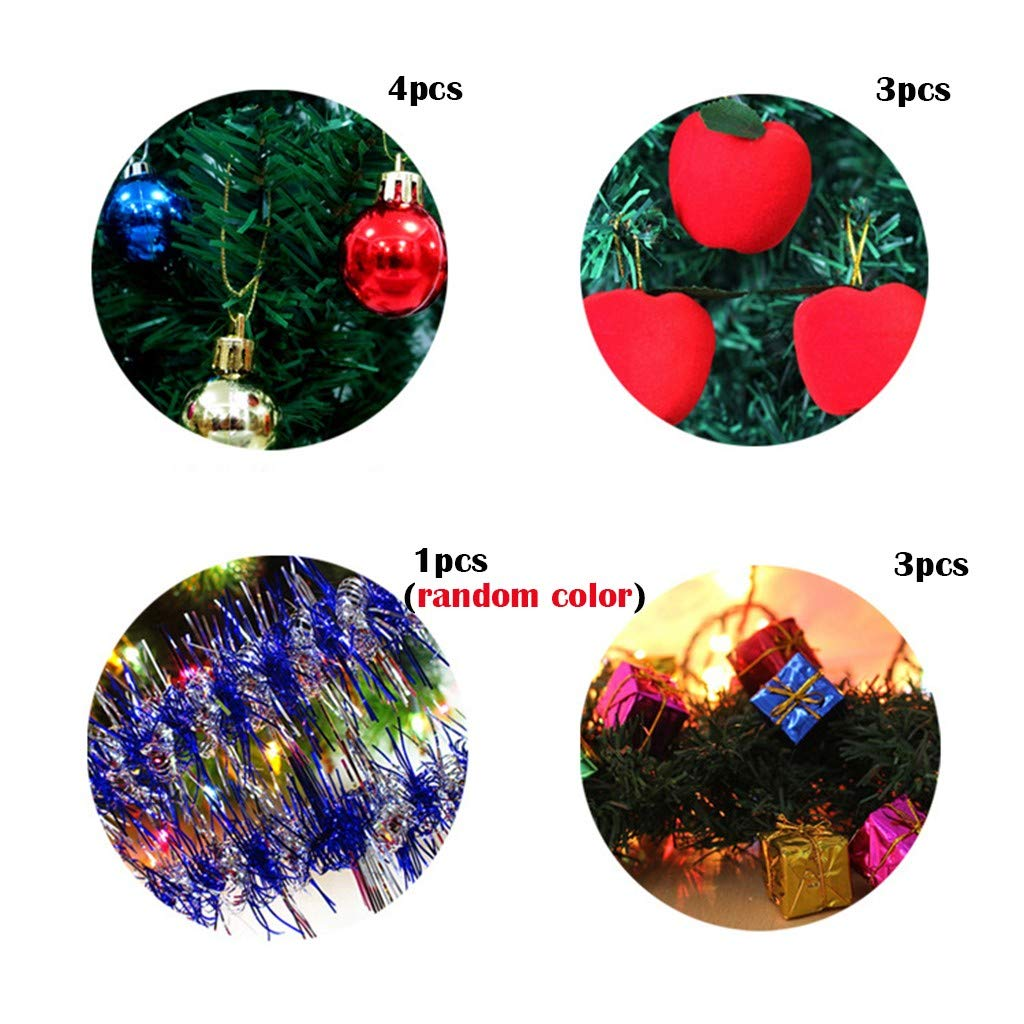 Mini LED Light Christmas Tree, Mini Table Top Christmas Tree Decoration LED Decor Home Xmas Gift Party (17.7in): Amazon.com: Grocery & Gourmet Food