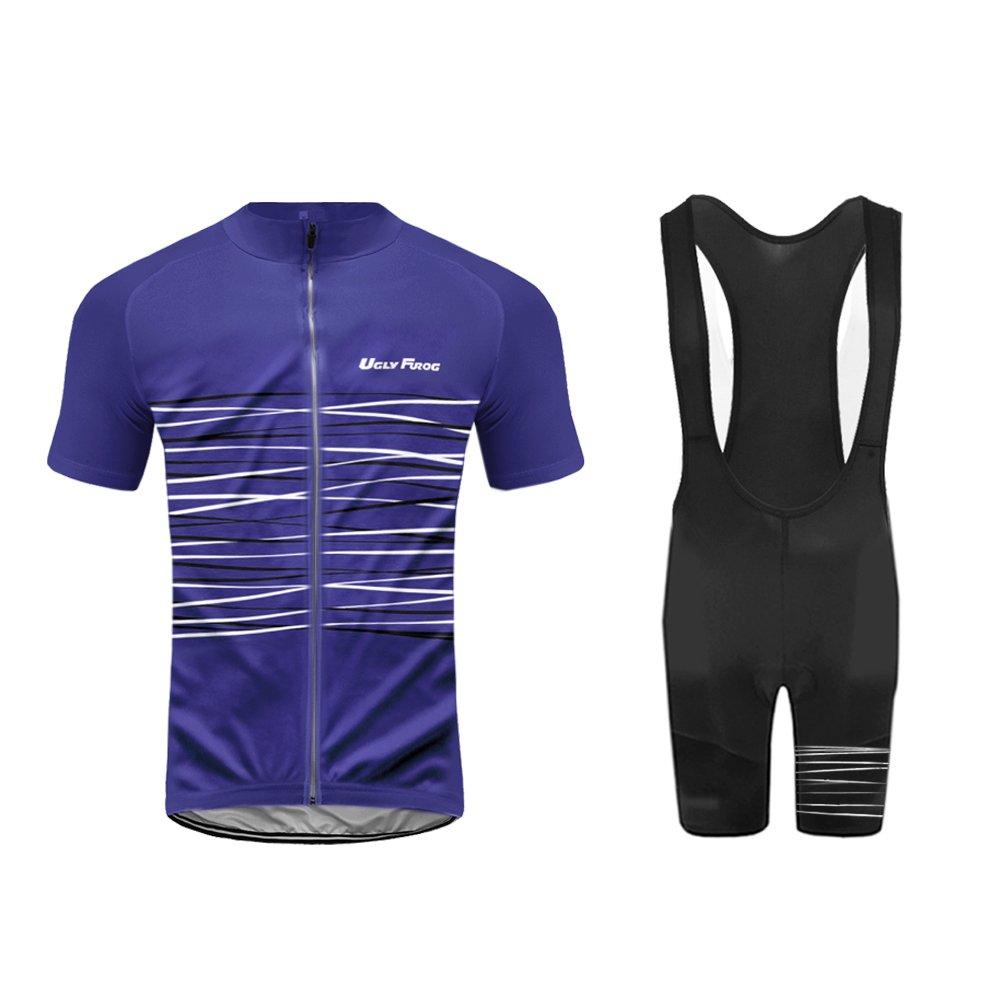 Uglyfrog 2016最新半袖サイクリングジャージーバイクシャツ自転車トップアウトドアスポーツ服メンズの夏のスタイル B074QMS9G1 X-Small|カラー27 カラー27 X-Small